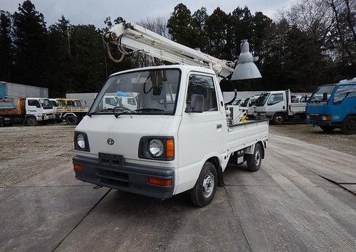 1987 SUBARU SAMBAR TRUCK ONLY 5370 MILES * MOBILE FLOODLIGHTS  For Sale (picture 1 of 6)