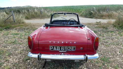 1968 Sunbeam Alpine Series V Roadster  SOLD (picture 6 of 6)