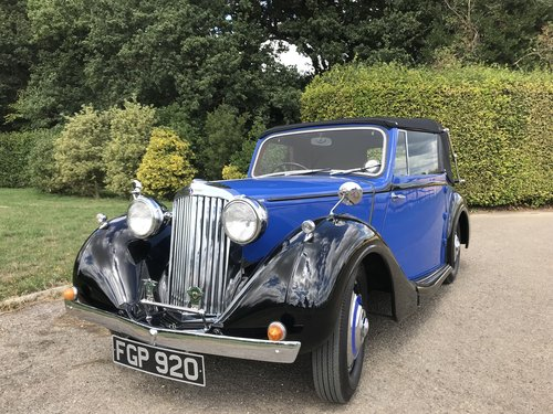 1938 Sunbeam Talbot Ten Drophead Coupe - Superb! SOLD (picture 1 of 6)