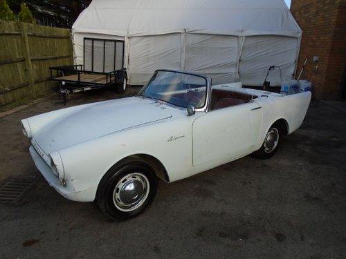 SUNBEAM ALPINE 1600 MK2 LHD BIG FIN CONVERTIBLE (1962) WHITE For Sale (picture 1 of 6)