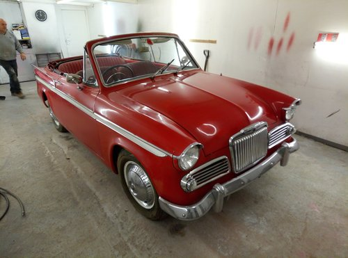 1963 SUNBEAM CONVERTIBLE  VERY RARE  IN NEED OF RECOMMISSIONING  For Sale (picture 1 of 6)