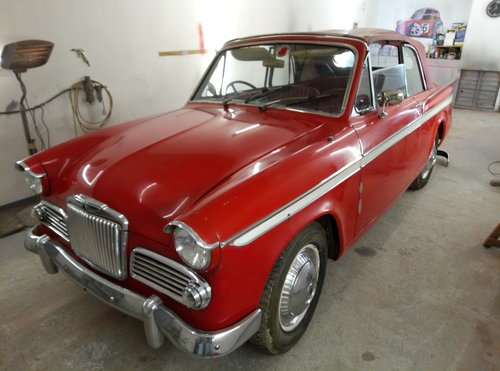 1963 SUNBEAM CONVERTIBLE  VERY RARE  IN NEED OF RECOMMISSIONING  For Sale (picture 2 of 6)