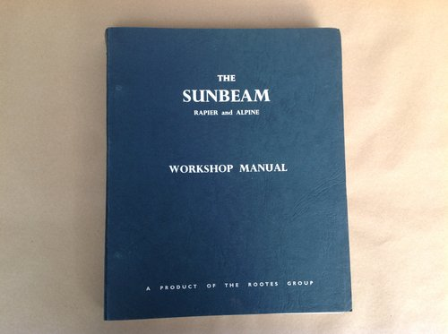 Sunbeam Rapier & Alpine Rootes Workshop Manual  For Sale (picture 1 of 4)