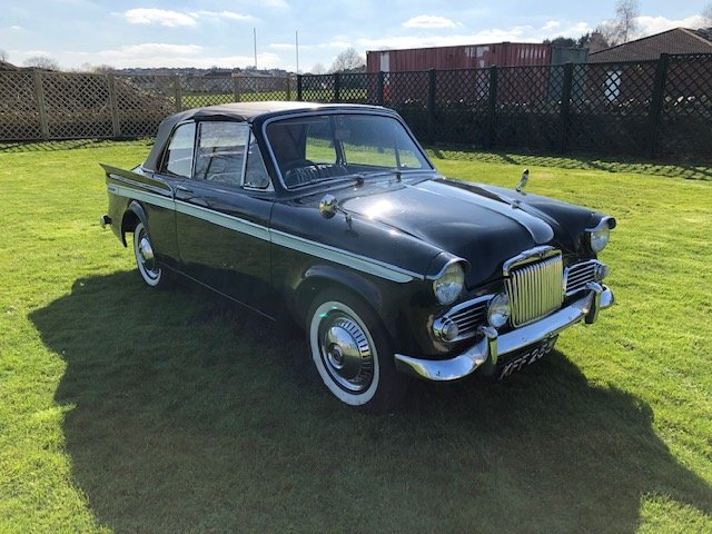 1961 Sunbeam Rapier Convertible Series IIIA 1500 c For Sale (picture 1 of 6)