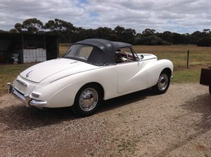 1953 very rare alpine white with red interior