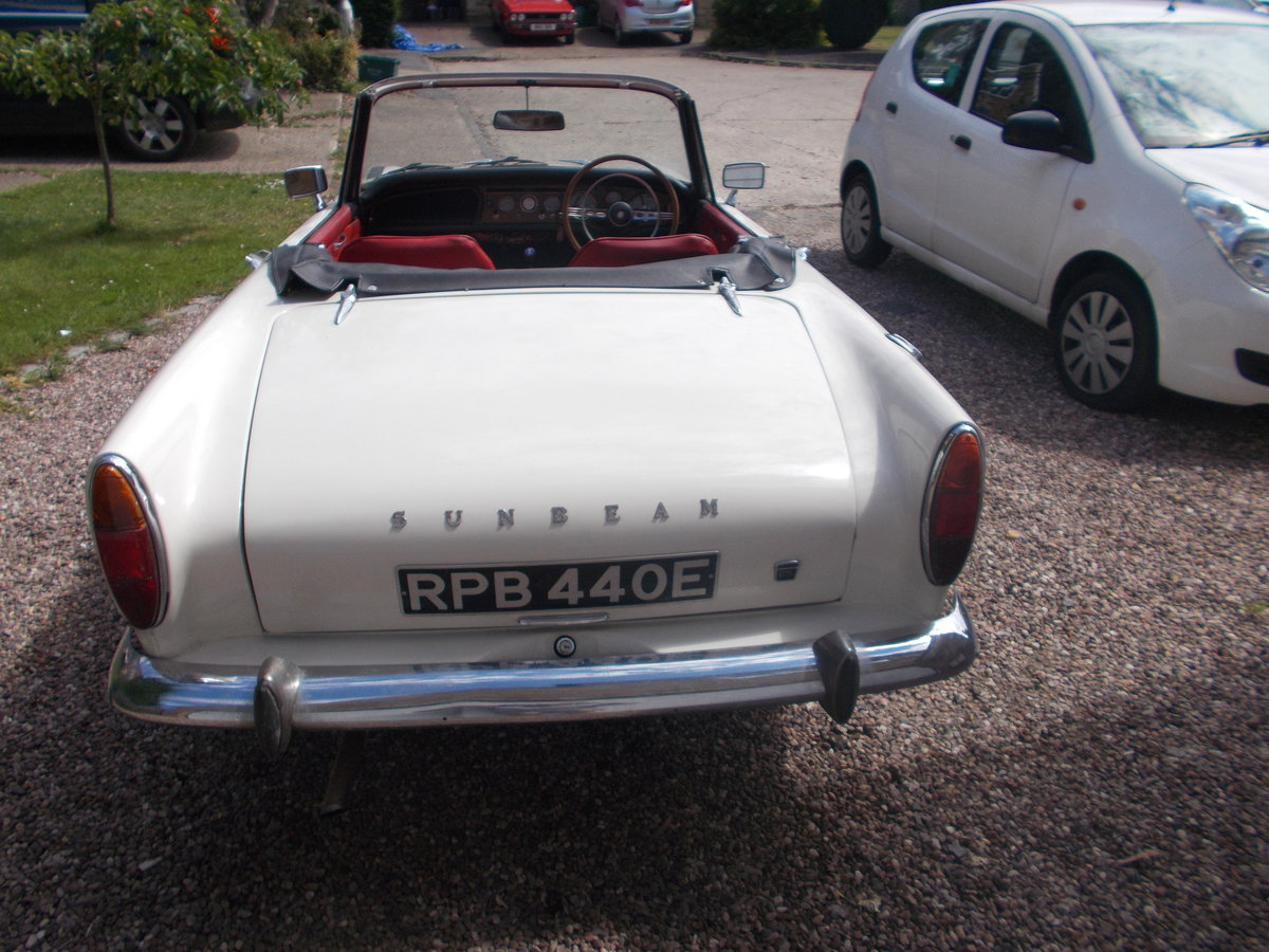 1967 Sunbeam Alpine MKV fully restored. For Sale (picture 2 of 6)
