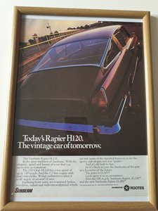 Original 1970 Sunbeam Rapier Advert