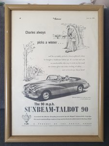 Original  1953 Sunbeam-Talbot 90 Advert