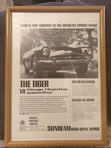 1965 Original Sunbeam Tiger Advert