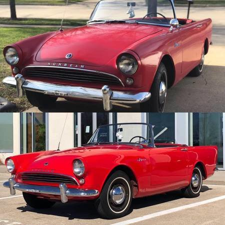 1962 62 Sunbeam Alpine Series II W Hardtop Rare fr-dics  $11.9k For Sale (picture 1 of 6)