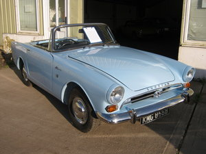 1964 SUNBEAM ALPINE S4. 1600cc. OVERDRIVE.  WEDGEWOOD BLUE. SOLD