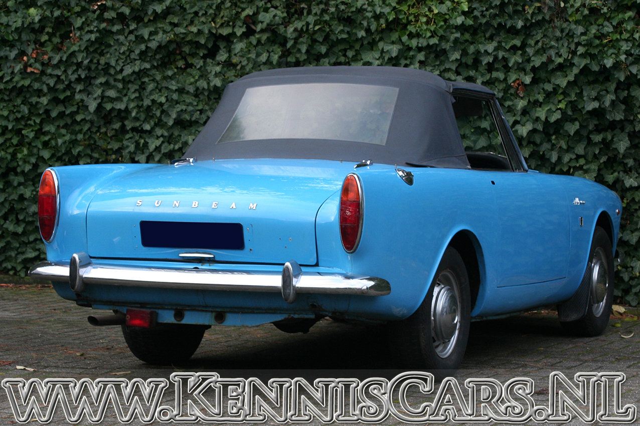 Sunbeam Alpine Convertible Mark V 1966 For Sale (picture 6 of 6)