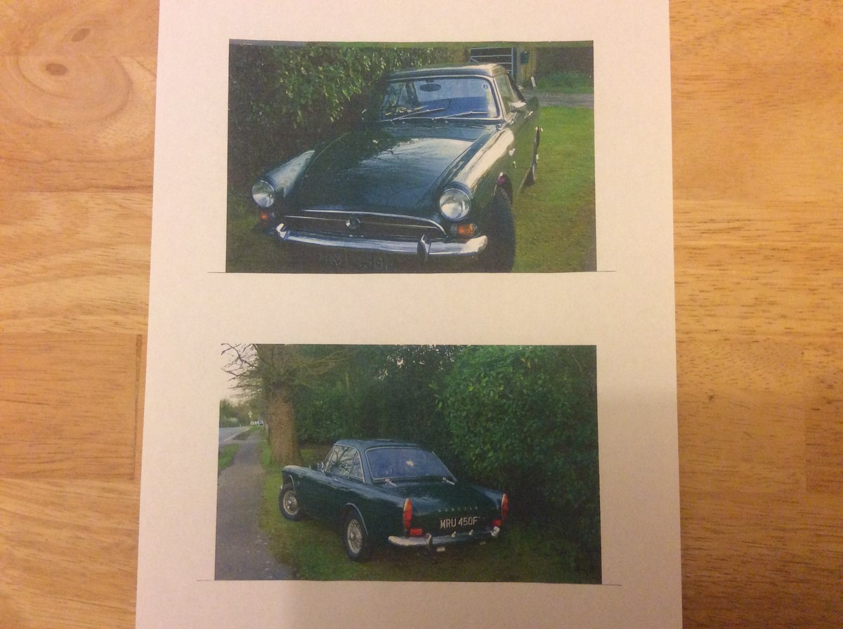 1968 Sunbeam Alpine GT Package For Sale (picture 5 of 6)