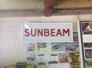 Sunbeam garage sign