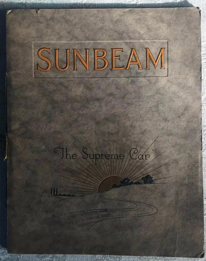 1920 Sunbeam Range Brochure For Sale (picture 1 of 5)