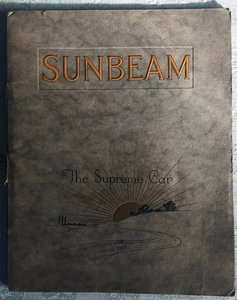 1920 Sunbeam Range Brochure