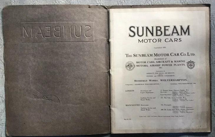 1920 Sunbeam Range Brochure For Sale (picture 2 of 5)