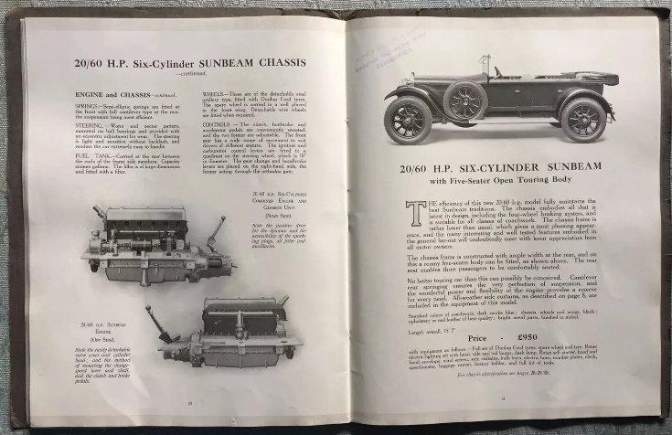 1920 Sunbeam Range Brochure For Sale (picture 4 of 5)