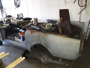 1965 Sunbeam Alpine body shell only