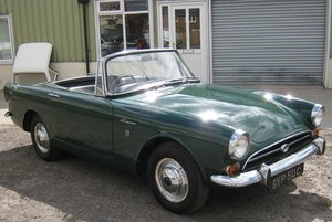 1965 SUNBEAM ALPINE S5 GT. O/DRIVE, HARD/ SOFT TOPS SOLD