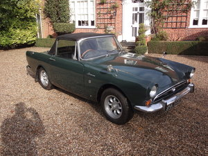 Very original 1968 Sunbeam Alpine MK 5 GT in Forest Green