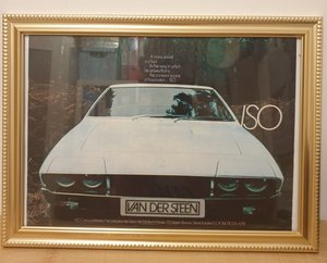 Original 1974 Iso Lele Framed Advert