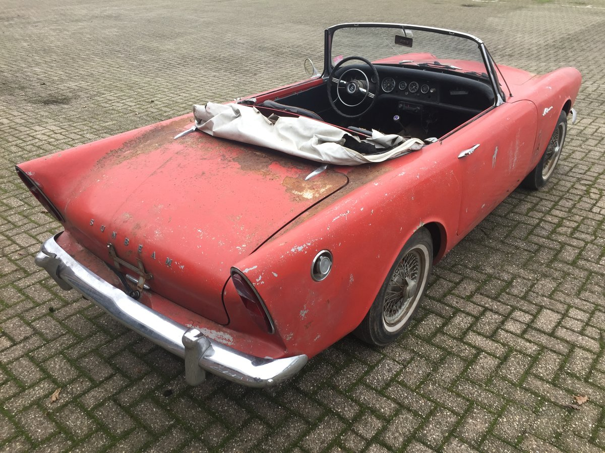 1963 Sunbeam Alpine Series 2 for restoration For Sale (picture 3 of 12)
