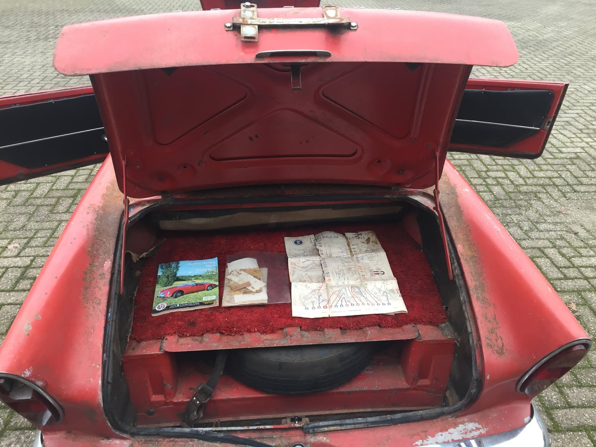 1963 Sunbeam Alpine Series 2 for restoration For Sale (picture 7 of 12)