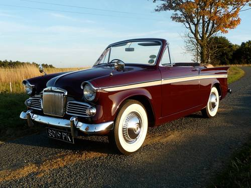 1963 Sunbeam Rapier 3A Convertible Rootes Group For Sale (picture 5 of 6)