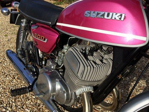 Suzuki T500 Titan 1975 showing just 1,382 miles SOLD (picture 5 of 5)