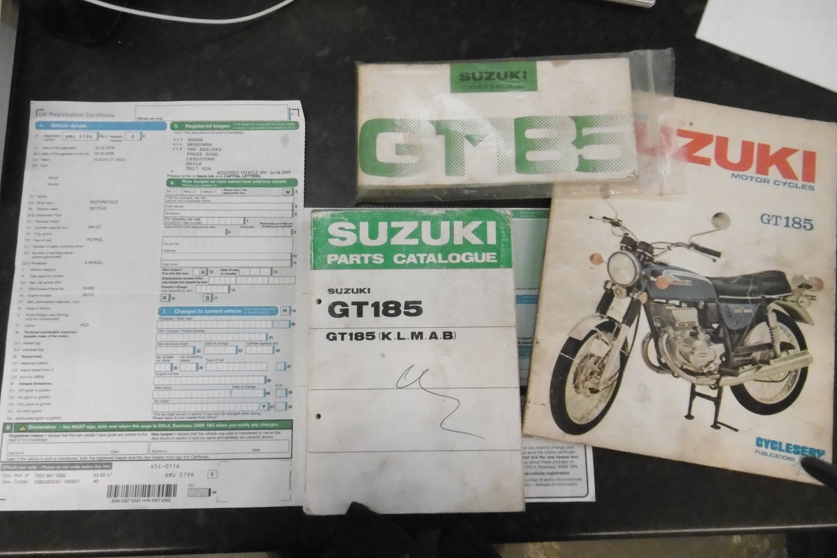 1976 SUZUKI GT185 STUNNING ORIGINAL CONDITION  SOLD (picture 6 of 6)