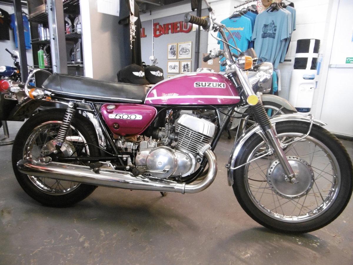 1972 SUZUKI T500 Stunning original Timewarp only 15k miles For Sale (picture 1 of 6)