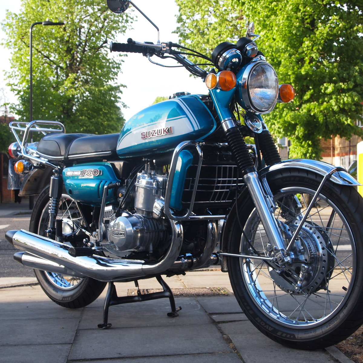 1972 Super Nice very early Suzuki GT750 J Probably The Best. For Sale (picture 1 of 6)