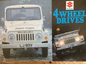 Suzuki LJ and ST brochures For Sale