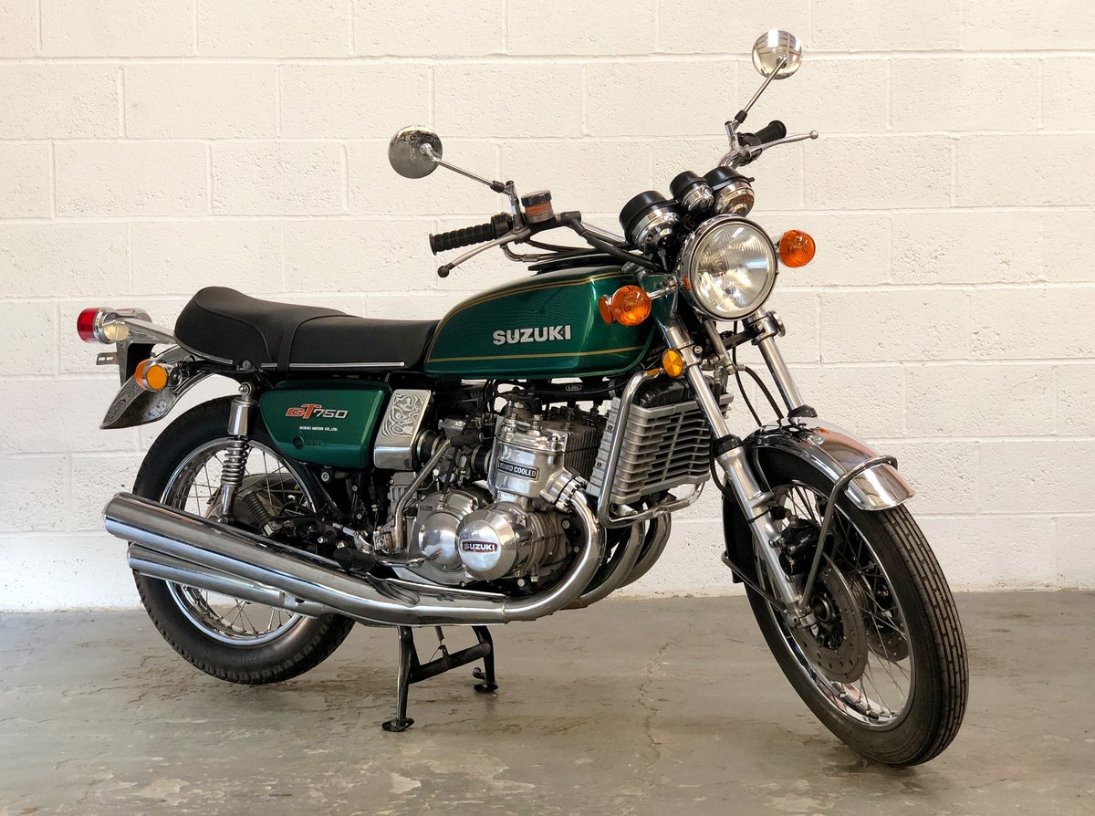 Suzuki GT 750 1974 Restored In Green SOLD (picture 1 of 6)