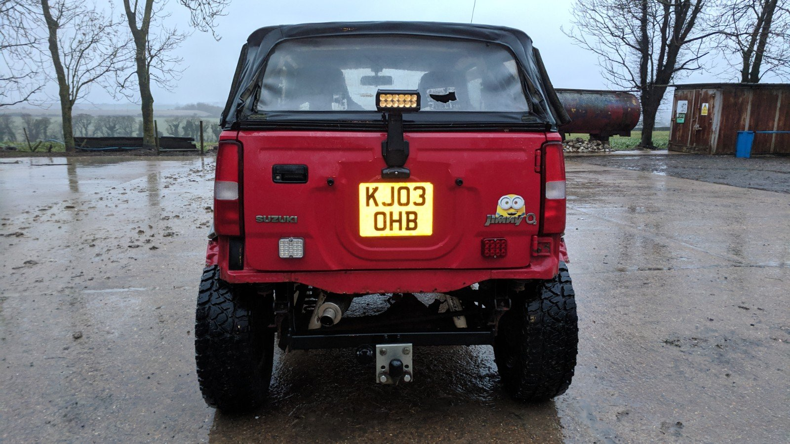 Suzuki Jimny 2003 Gloss Red Leather Trim For Sale (picture 5 of 6)