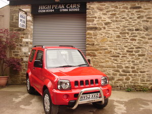 2002 52 SUZUKI JIMNY 1.3 JLX 53285 MILES. 4X4. SUPERB. For Sale