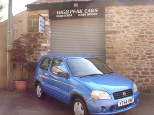 2001 Y SUZUKI IGNIS 1.3 GL 3DR 35653 MILES. 1 LADY OWNER. For Sale
