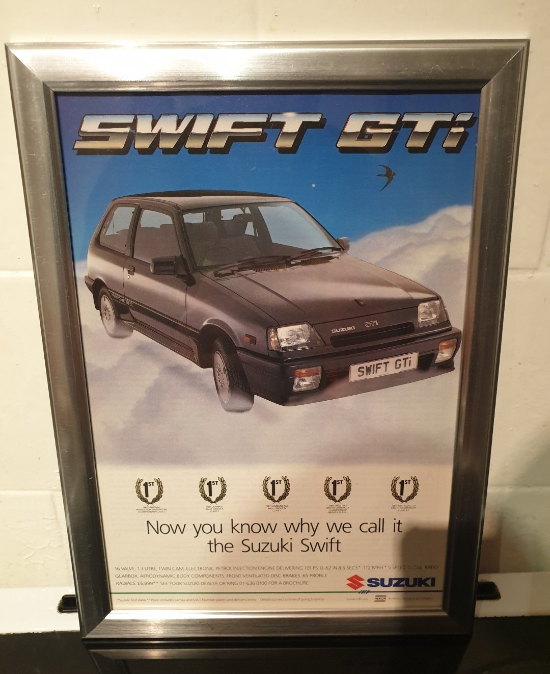 1988 Original Suzuki Swift GTi Advert For Sale (picture 1 of 2)