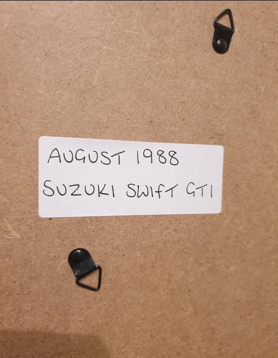 1988 Original Suzuki Swift GTi Advert For Sale (picture 2 of 2)