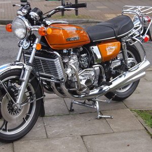 1976 Beautiful Suzuki GT750 Kettle With Period Accessories. SOLD