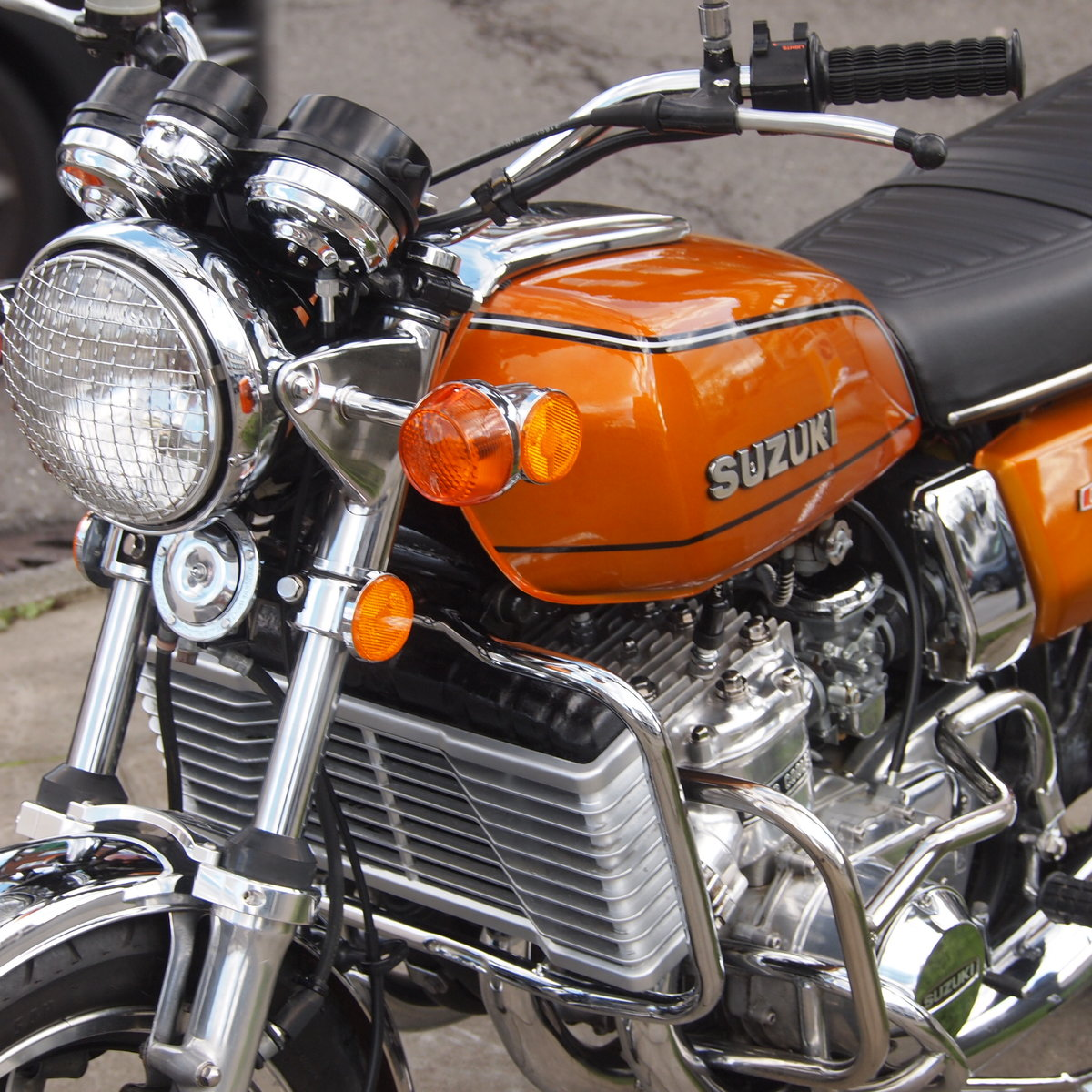 1976 Beautiful Suzuki GT750 Kettle With Period Accessories. SOLD (picture 3 of 6)