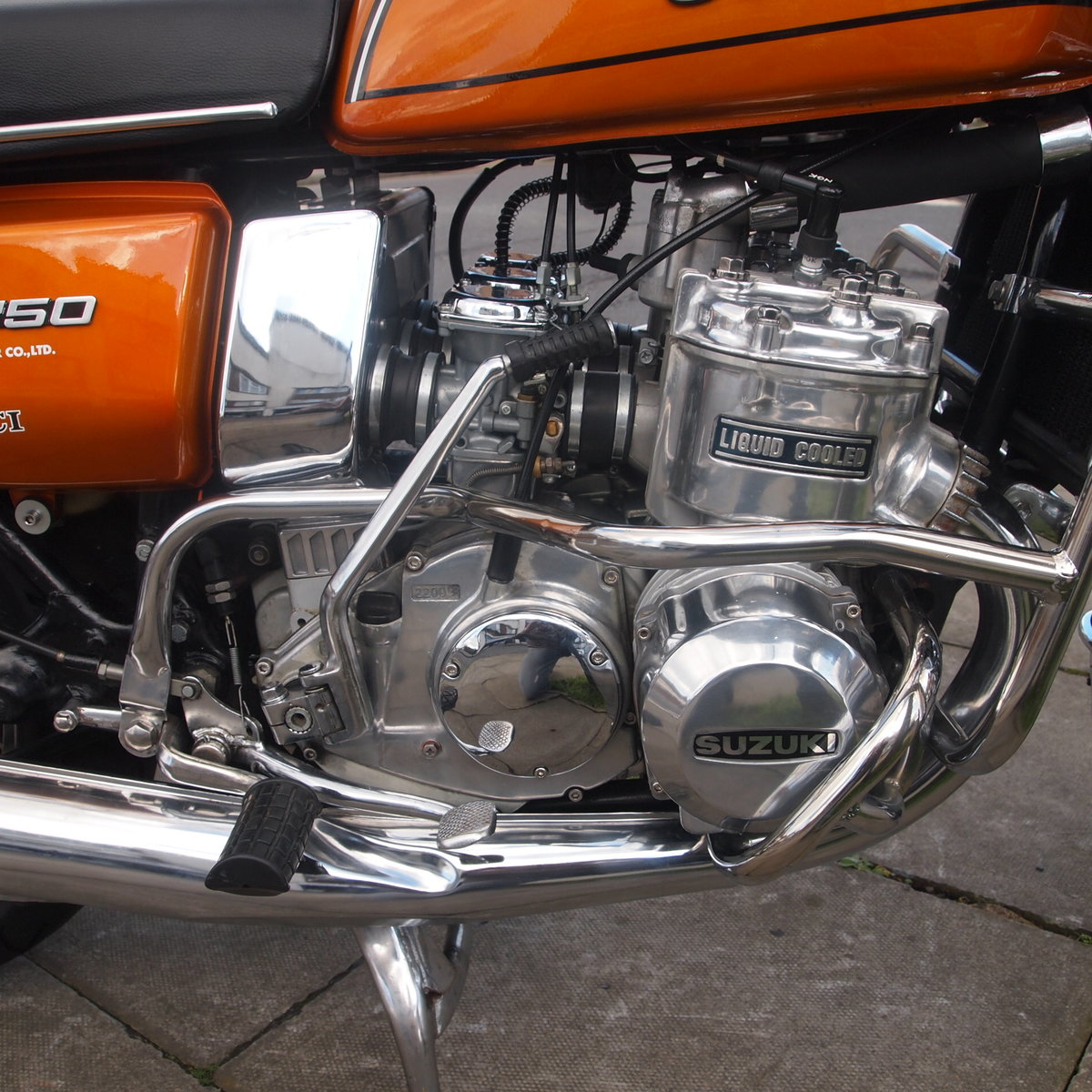 1976 Beautiful Suzuki GT750 Kettle With Period Accessories. SOLD (picture 5 of 6)