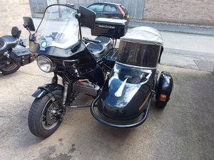 Suzuki gs850g and sidecar