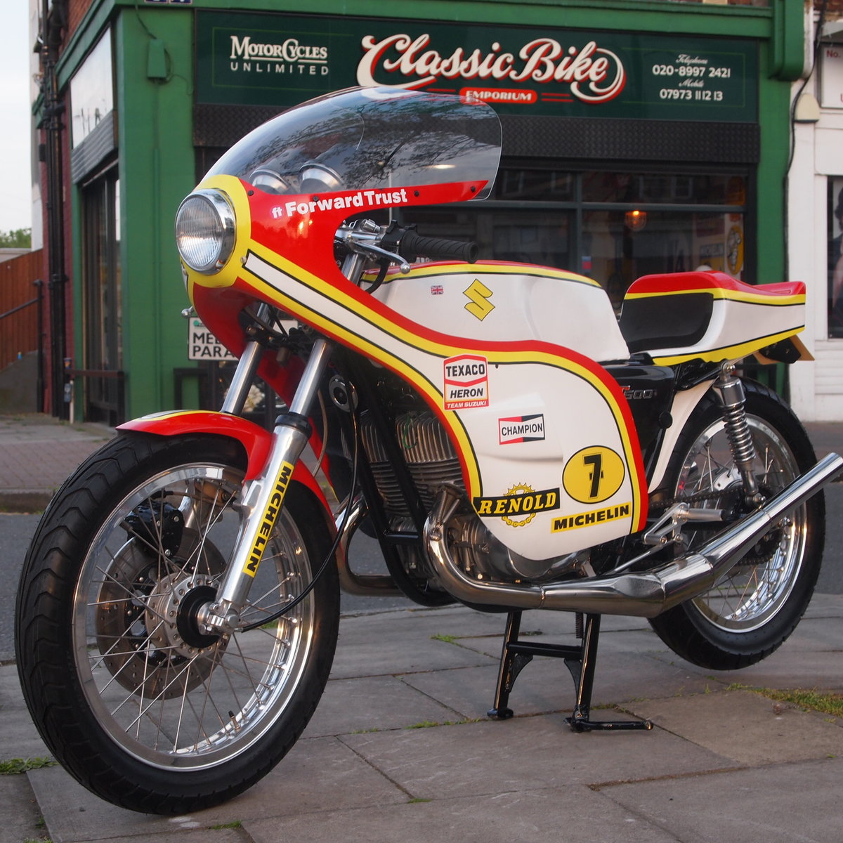 1974 Suzuki GT 500 Barry Sheene Replica Cafe Racer. SOLD (picture 1 of 6)