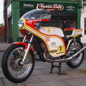1974 Suzuki GT 500 Barry Sheene Replica Cafe Racer. SOLD