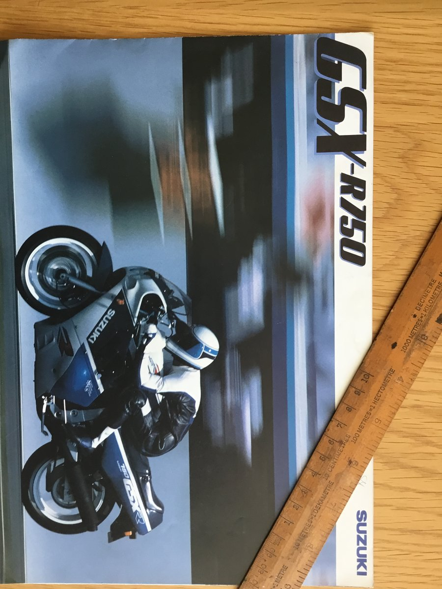 1987 Suzuki GSX 750 brochure For Sale (picture 1 of 1)
