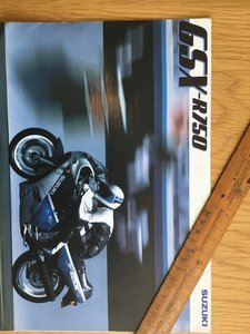 1987 Suzuki GSX 750 brochure For Sale