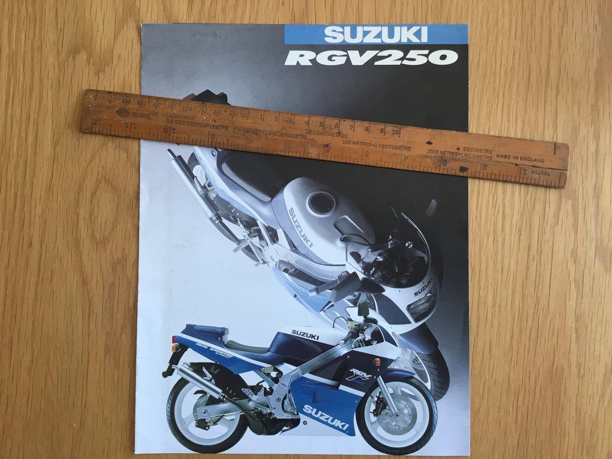 1987 Suzuki RGV 250 brochure For Sale (picture 1 of 2)