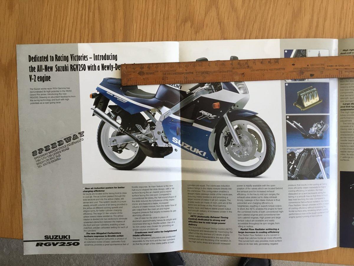 1987 Suzuki RGV 250 brochure For Sale (picture 2 of 2)